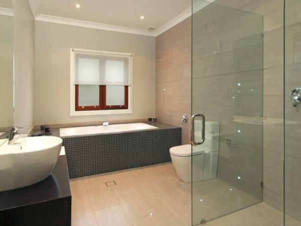 modere-Badezimmer-Duschkabine-