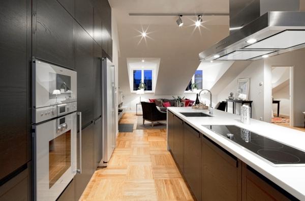 moderne-Dachwohnung-in-Schweden-Küche