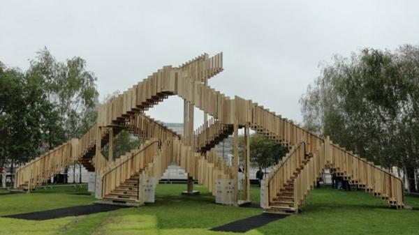 Treppenstufen Holz FUr Ausen ~ super kreatives design von treppengeländern  modern gestaltet