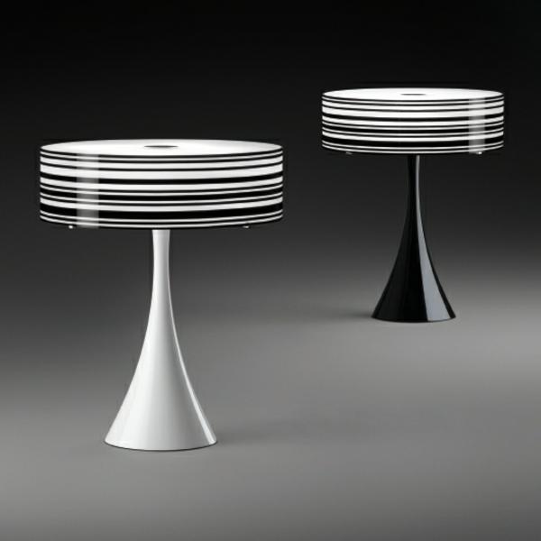 moderne-designer-Lampen-weiß-schwarz