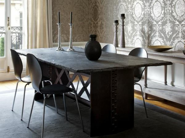 moderne-stühle-für-esszimmer-aus-metall