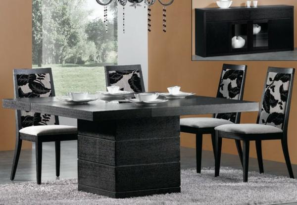 moderne-stühle-für-esszimmer-dunkle-farbschemen