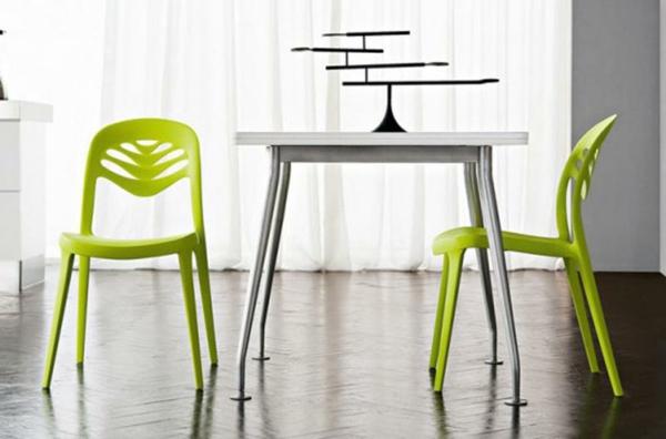 moderne-stühle-für-esszimmer-grün-und-süß-aussehen