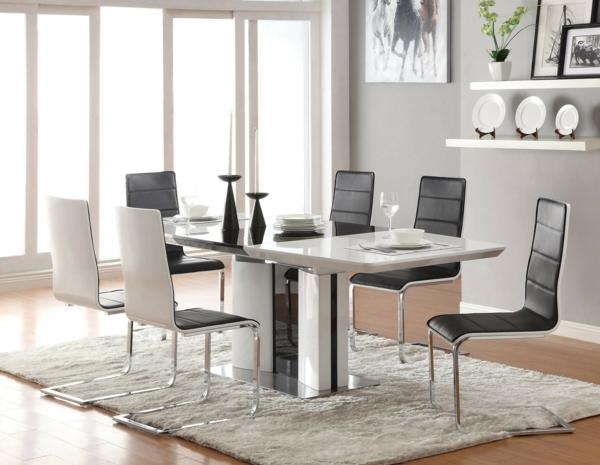 moderne-stühle-für-esszimmer-grau-und-weiß