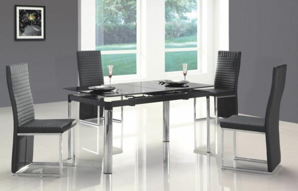 moderne-stühle-für-esszimmer-graue-farbe