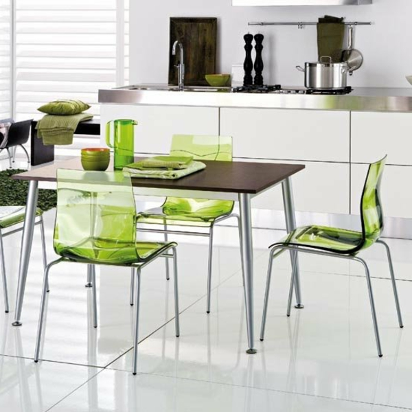 k chenst hle gr n m belideen. Black Bedroom Furniture Sets. Home Design Ideas