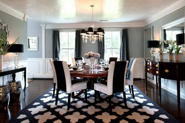 Moderne Stühle Für Esszimmer In Weiß Und Schwarz