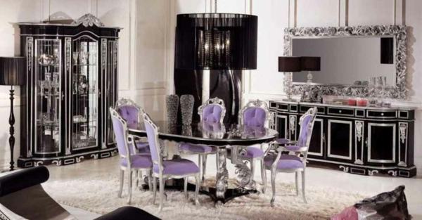 moderne-stühle-für-esszimmer-lila-farbe