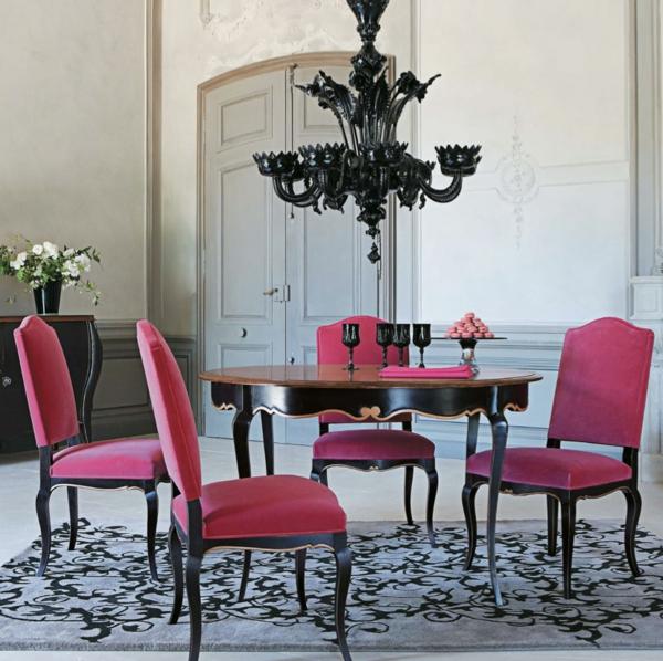 moderne-stühle-für-esszimmer-rosige-farbe