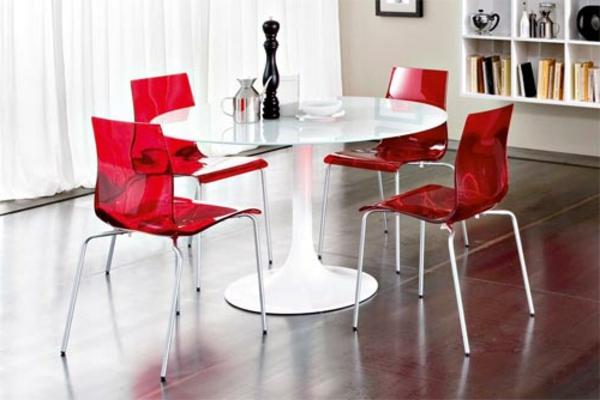 moderne-stühle-für-esszimmer-rot-und-weiß-kombinieren