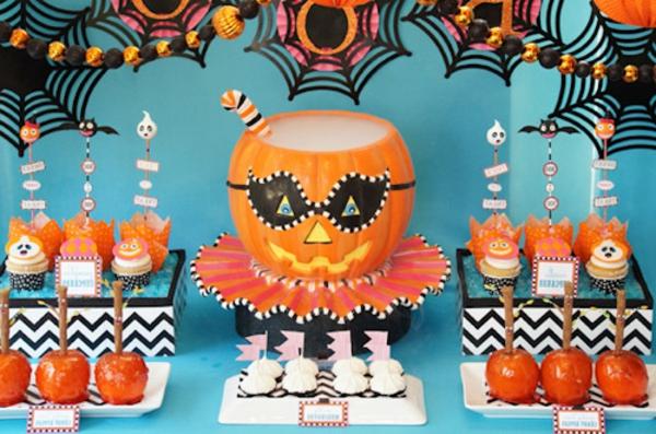 moderne dekoration zum halloween - kinderparty machen