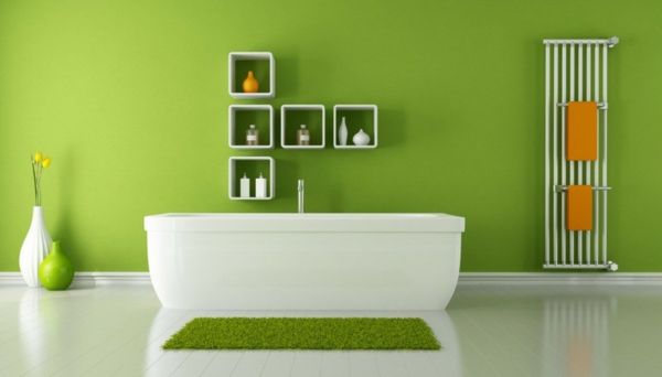 modernes-Badezimmer-Wandfarbe-Grüntone-