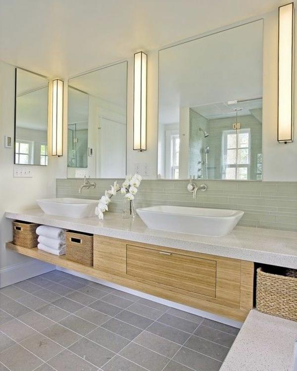 Waschbeckenunterschrank Aus Bambus! - Archzine.net Schönes Badezimmer
