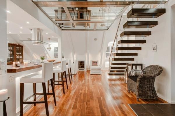 Wohnen unterm dach luxuriöse mansarde in stockholm