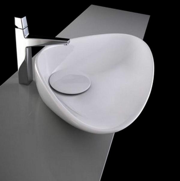 modernes-designer-waschbecken-in-weiß - schwarzer hintergrund