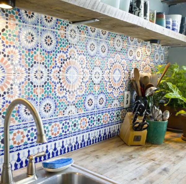 Orientalische Marokkanische Wandfliesen Fliesen Badfliesen Wand Deko Küche bunt