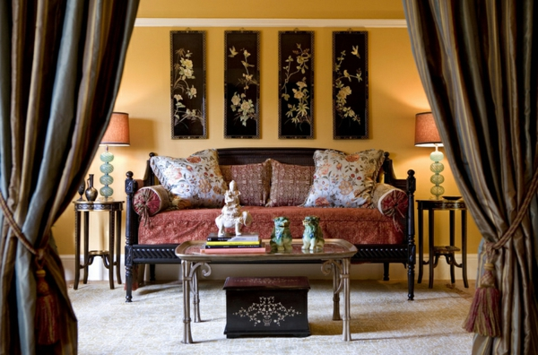 Orientalische Gardinen Zimmer Sofa Kissen Wanddekoration Wohnzimmer