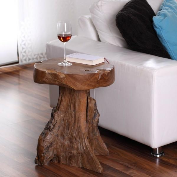beistelltisch aus holz mit glasplatte. Black Bedroom Furniture Sets. Home Design Ideas