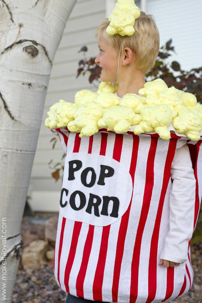 originelles jungen kostüm popcorn halloween verkleidung selber machen diy projekte ideen und inspiration einzigartig