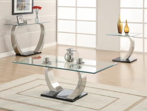 Effektvolle couchtische aus glas for Moderne couchtische design