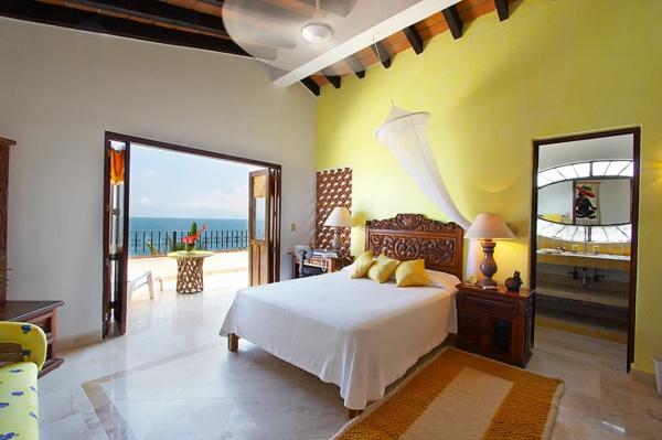 Gelbe farbgestaltung im schlafzimmer 24 fotos - Sehr kleines schlafzimmer ...