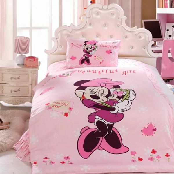 rosa-Bettwäsche-Mickey-Mouse-