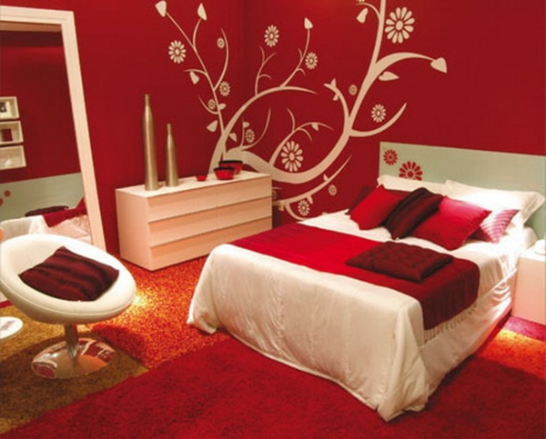 rote schlafzimmer ideen | möbelideen - Schlafzimmer Beige Rot