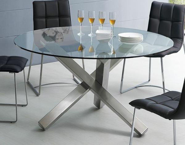 Ikea Vitrine Pour Collection ~ Auszeihbarer Tisch mit Glasplatte und tolle gelbe Stühle für eine