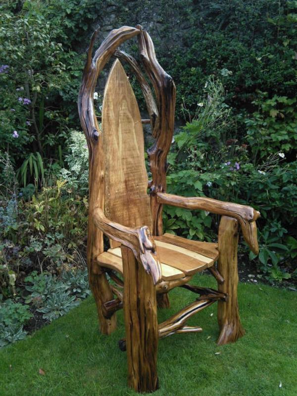 rustikale-gartenmöbel-cooler-stuhl