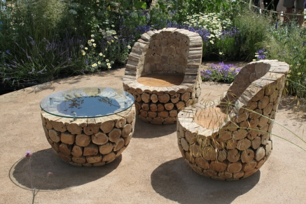 Diy outdoor furniture plans - Interessante Rustikale Gartenm 246 Bel Aus Holzst 228 Mmen Gemacht