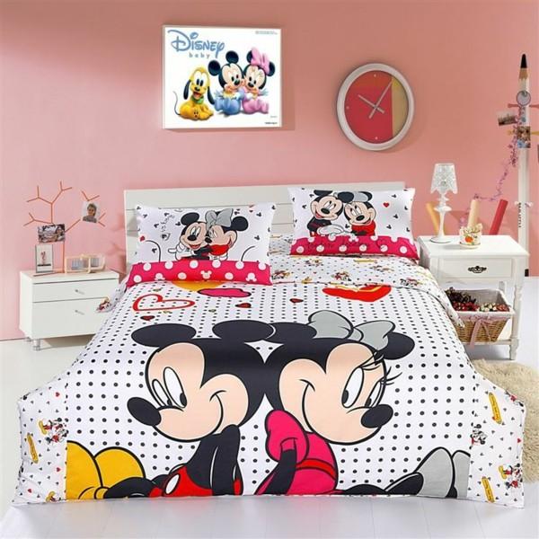 süße-Bettwäsche-Mickey-Mouse-Minnie Mouse