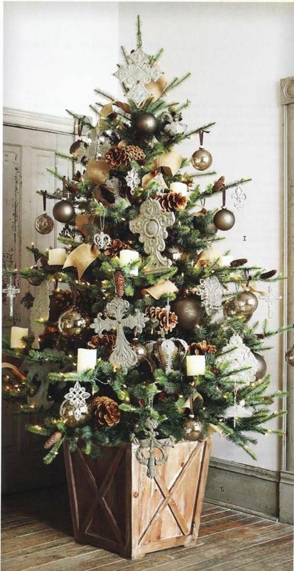 wundersch ne ideen f r weihnachtsbaum deko. Black Bedroom Furniture Sets. Home Design Ideas