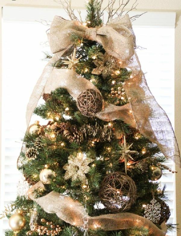 Wundersch ne ideen f r weihnachtsbaum deko - Sapin de noel idee deco ...