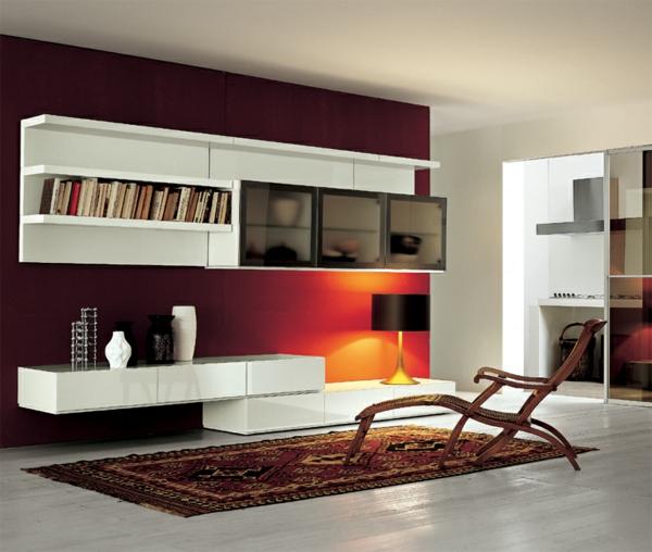 wandgestaltung hinter weißen möbeln: fotos von origineller ... - Schlafzimmer Wandgestaltung Mit Weien Mbeln