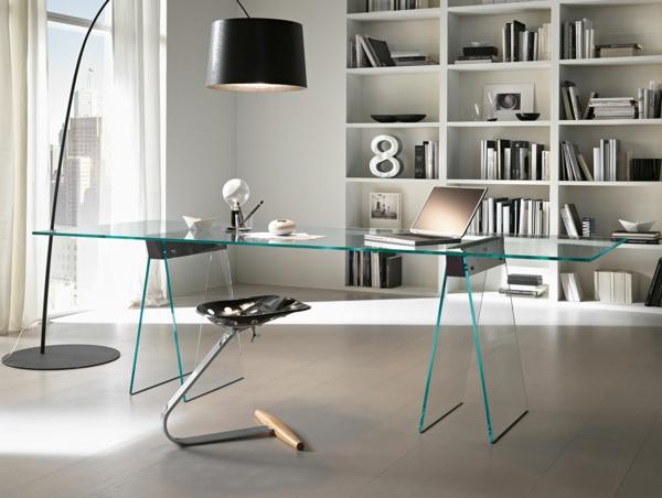 schicker-moderner-gläserne-Schreibtische-Design-Idee