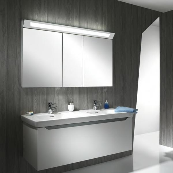 Badezimmer spiegelschrank mit beleuchtung sch ne ideen - Beleuchtung badezimmer ideen ...