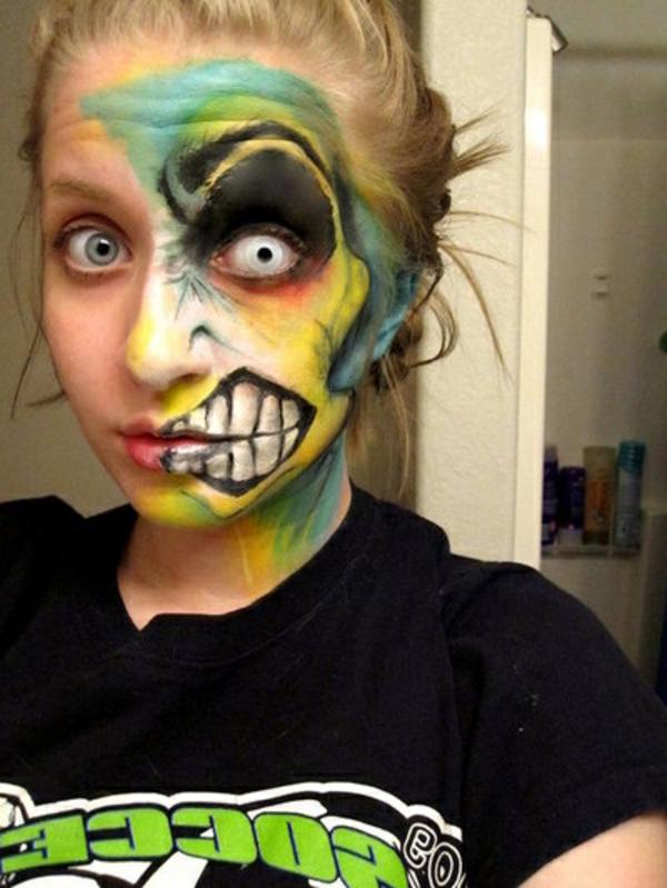 schreckliche-kontaktlinsen-für-halloween-interessante-maske