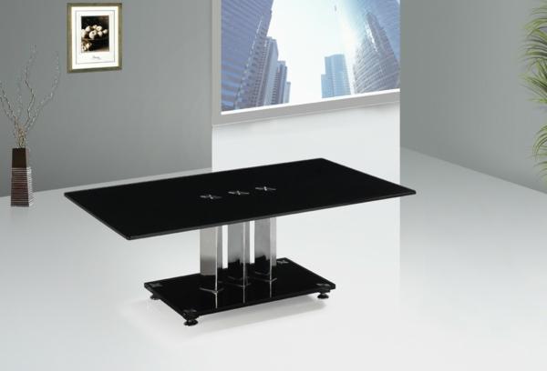 schwarze-Beistelltische-aus-Glas-Innendesign