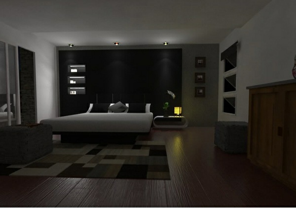 dunkle schlafzimmer wandfarbe. Black Bedroom Furniture Sets. Home Design Ideas