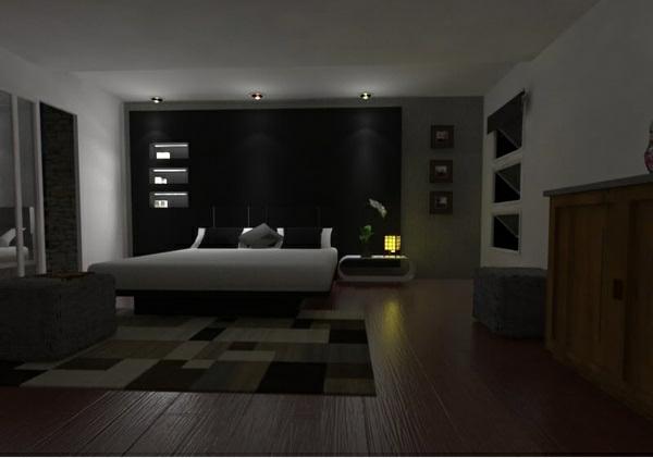 schwarze-wandfarbe-für-schlafzimmer-coole-einrichtung