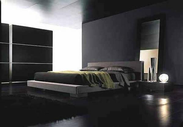 Schwarze Wandfarbe Für Schlafzimmer Kreatives Aussehen