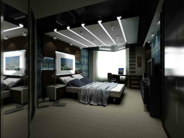 Schwarze wandfarbe f r schlafzimmer 30 bilder for Simple bedroom designs for men