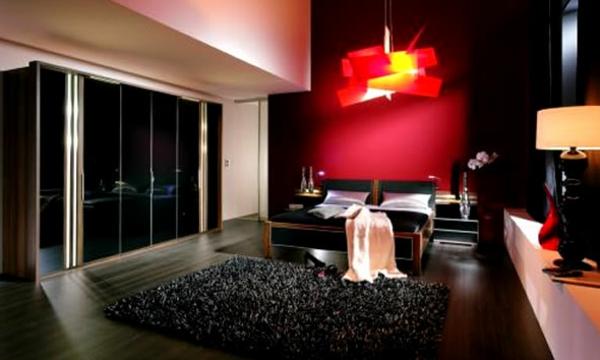 Schwarze wandfarbe f r schlafzimmer 30 bilder - Rotes schlafzimmer ...