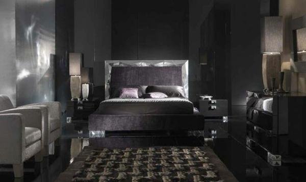 Schwarze Wandfarbe Für Schlafzimmer U2013 30 Bilder!