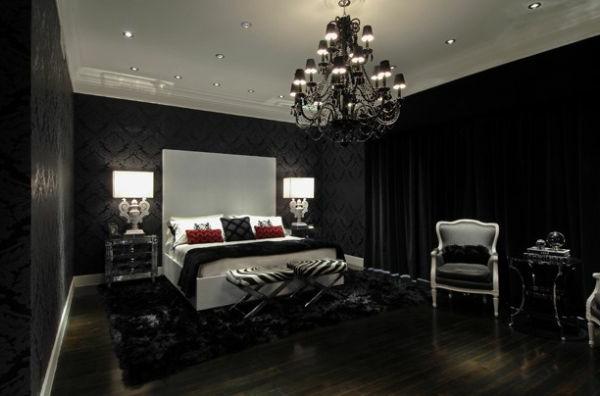 Schwarze Wandfarbe Fr Schlafzimmer 30 Bilder Archzinenet