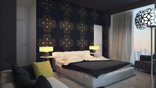 Schwarze Wandfarbe für Schlafzimmer - 30 Bilder! - Archzine.net