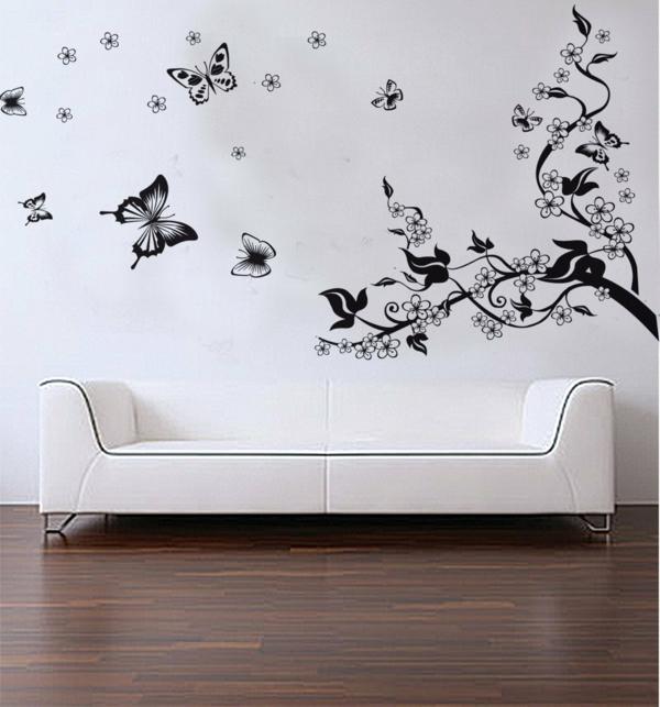 schwarzer-schmetterling-deko-für-wohnzimmer