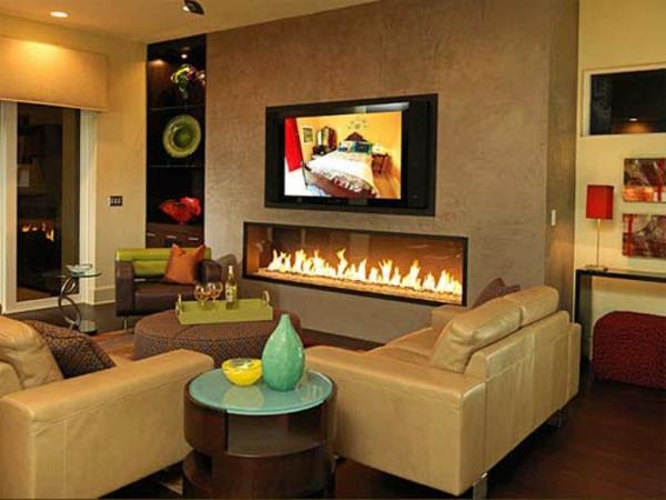 sehr inspirierende wohnzimmer ideen - Wohnzimmer Ideen Mit Kamin