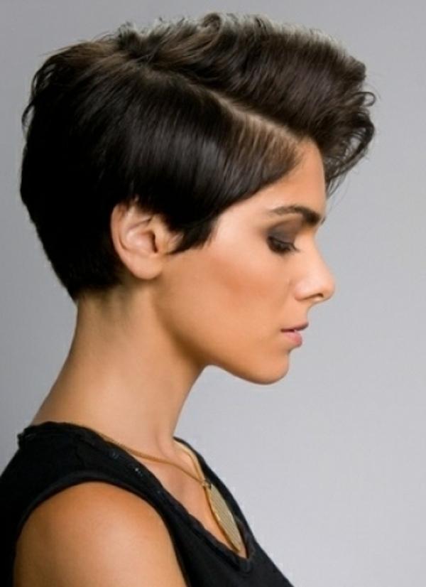 Frisuren fur dunkle kurze haare