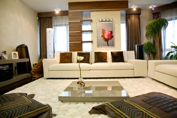 30 fotos von origineller wohnzimmer wandgestaltung - Braune wandgestaltung ...